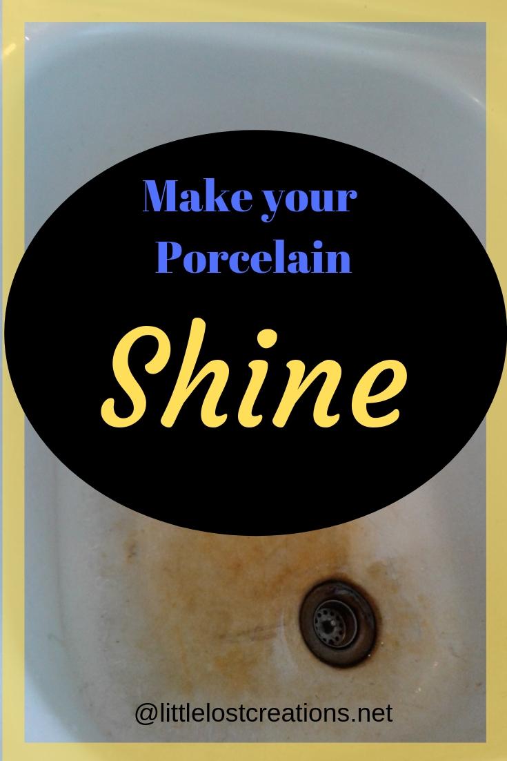Make your porcelain shine. Grimy porcelain sink