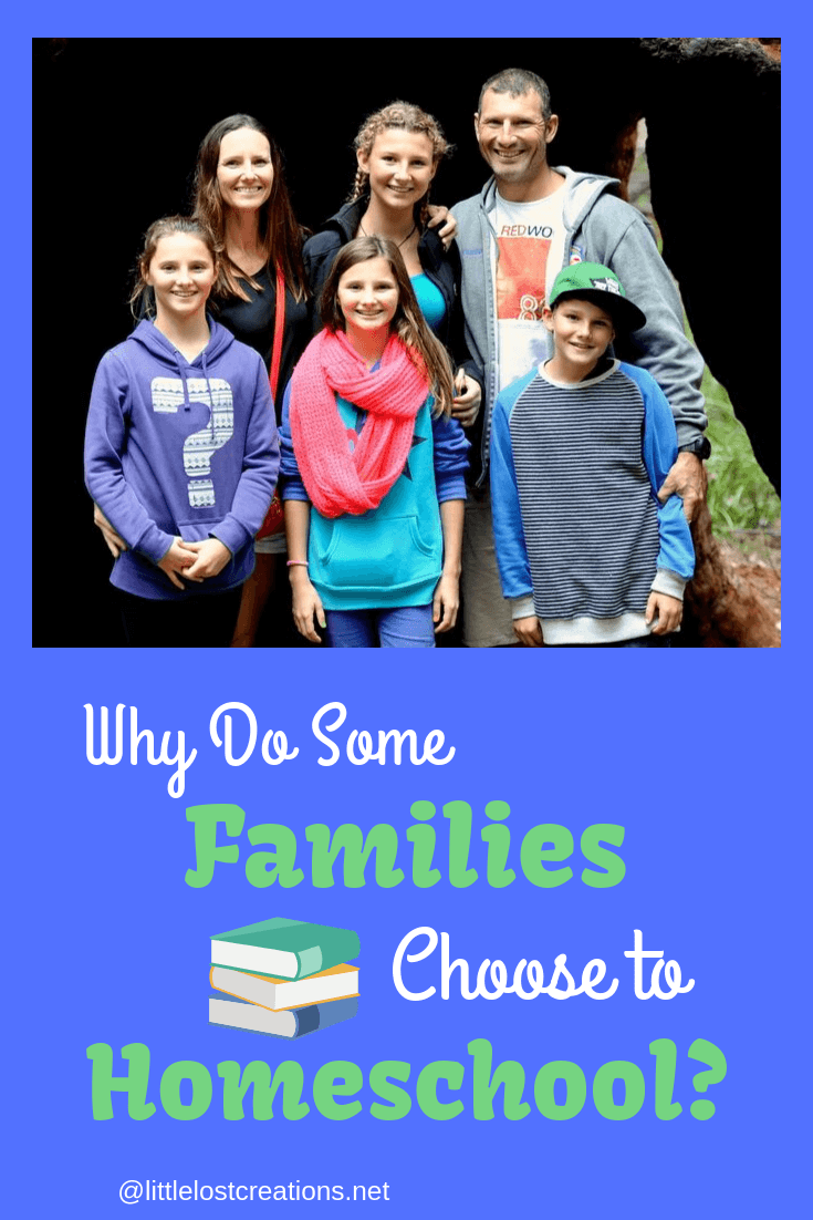 Why do some families homeschool, picture of a family
