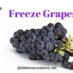 How to freeze grapes, @littlelostcreations.net