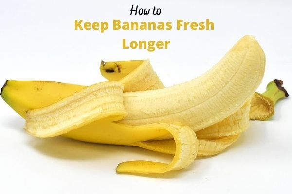 How to keep bananas fresh longer with a picture of a peeled banana