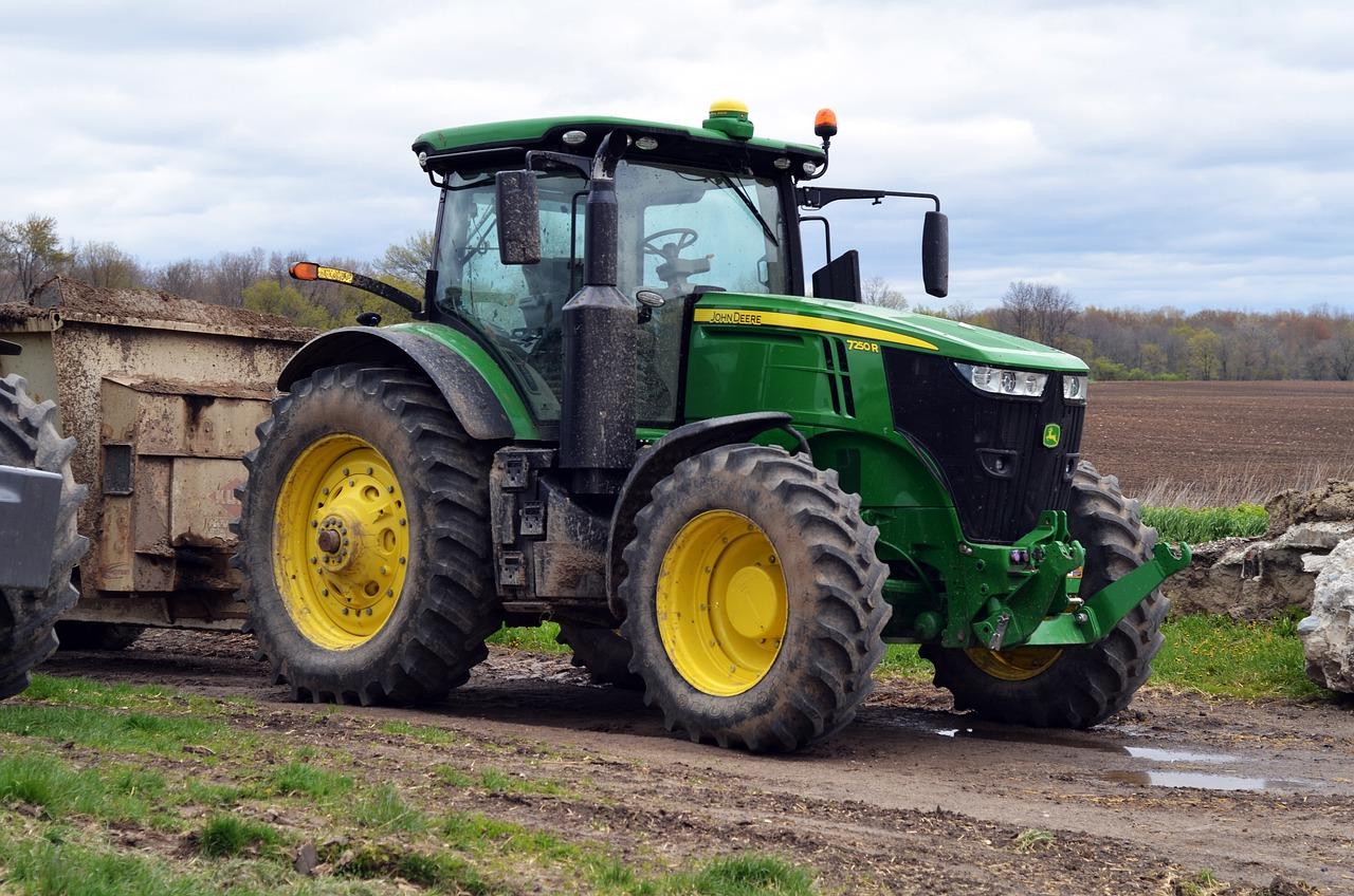 Green John Deere Tractor.